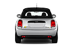 Straight rear view of 2020 MINI MINI-Electric Cooper-SE-L 2 Door Hatchback Rear View  stock images