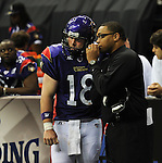 The Pittsburgh Power defeat the New Orleans Voodoo, 56-49, in Arena Football action.