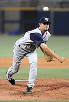 10 April 2008: Tony Barnette of the Mobile BayBears, Class AA affiliate of the Arizona Diamondbacks, in a game against the Mississippi Braves at Trustmark Park in Pearl, Miss. Photo by:  Tom Priddy/Four Seam Images