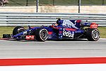 Red Bull Racing driver Daniil Kvyat (26) of Russia in action during qualifying before this weekends Formula 1 United States Grand Prix race at the Circuit of the Americas race track in Austin,Texas.