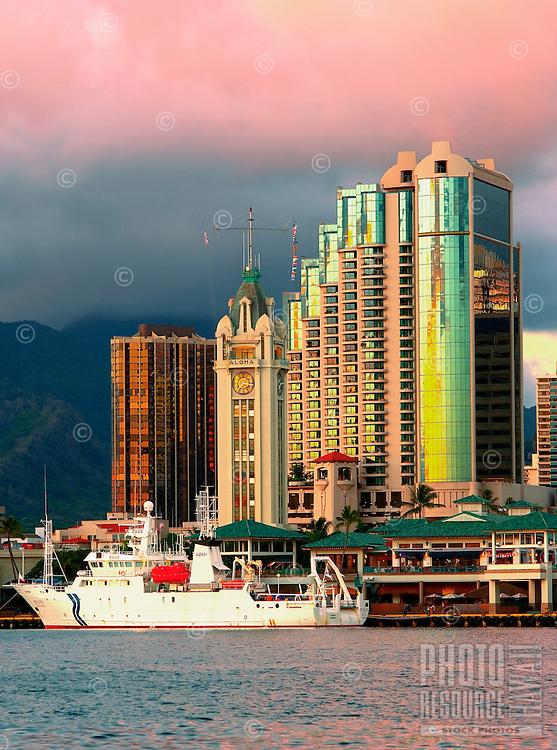 Aloha Tower Waterfront, Honolulu, Hawaii
