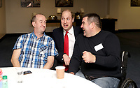 Photo Must Be Credited ©Alpha Press 073074 22/02/2020<br /> Prince William Duke of Cambridge with Steve Coles during the Six Nations match between Wales and France at the Principality Stadium in Cardiff, Wales.<br /> <br /> *** No UK Rights Until 28 Days from Picture Shot Date ***/AdMedia