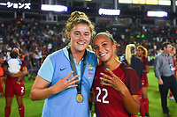 Carson, CA - Thursday August 03, 2017: Mallory Pugh after the 2017 Tournament of Nations match between the women's national teams of the United States (USA) and Japan (JPN) at the StubHub Center.