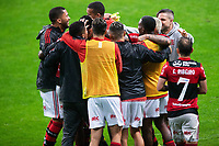 25th August 2021; Arena do Gremio, Porto Alegre, Brazil; Copa Do Brazil, Gremio versus Flamengo; Players of Flamengo celebrates scored goal by Vitinho in the 97th minute for 4-0