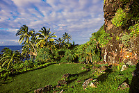 Ke Ahu a Laka Heiau, an historic hula heiau on the north shore of Kauai