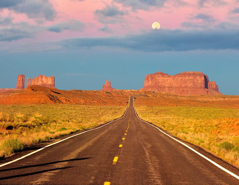 Monument Valley as seen from Highway 163, Utah.