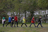 Nordic Walker beim HR4 Walking Day im Rüsselsheimer Mainvorland