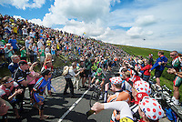 Thomas Voeckler (FRA/Europcar) sheered up Holme Moss Hill (521m/4.7km/7%) by the massive Brit crowds<br /> <br /> 2014 Tour de France<br /> stage 2: York-Sheffield (201km)