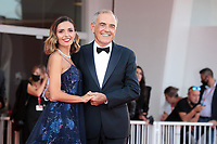 VENICE, ITALY - SEPTEMBER 11: Director Alberto Barbera and Patroness of the festival Serena Rossi attend the closing ceremony red carpet during the 78th Venice International Film Festival on September 11, 2021 in Venice, Italy. <br /> CAP/MPI/AF<br /> ©AF/MPI/Capital Pictures