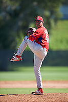 Philadelphia Phillies pitcher Julian Garcia (47) during an Instructional League game against the Toronto Blue Jays on October 1, 2016 at the Carpenter Complex in Clearwater, Florida.  (Mike Janes/Four Seam Images)