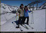 """Austria, Stubai Glacier.<br /> John and Beth continue to live the dream and ski the best of Europe. Choose your background and position taller people downhill or behind shorter people.  Next, choose someone to take your photo. """"Photo"""" is a more internationally understood word than picture. Keep your request simple."""
