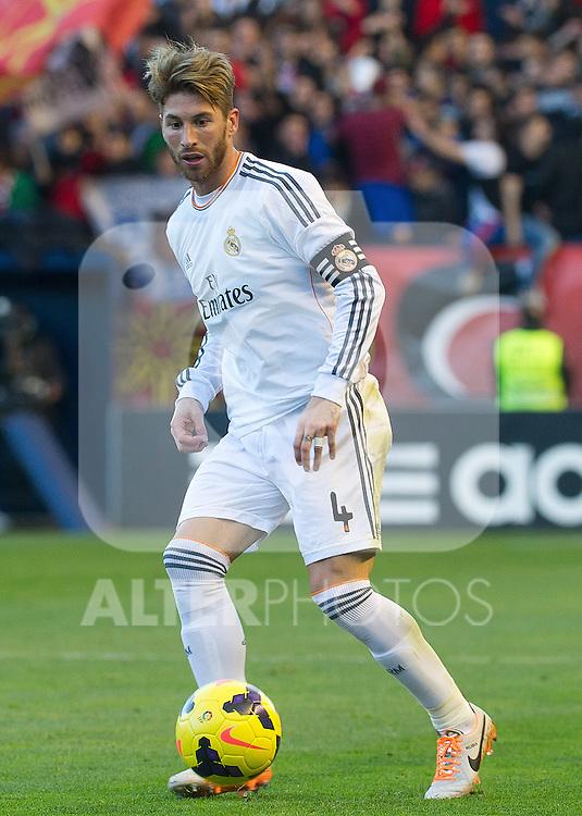 Real Madrid's Sergio Ramos during La Liga match.December 14,2013. (ALTERPHOTOS/Mikel)