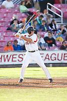 July 7, 2009: Salem-Keizer Volcanoes' Drew Biery at-bat during a Northwest League game against the Tri-City Dust Devils at Volcanoes Stadium in Salem, Oregon.