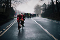 2 Italians trying to make a run for it<br /> <br /> 51th Le Samyn 2019 <br /> Quaregnon to Dour (BEL): 200km<br /> <br /> ©kramon