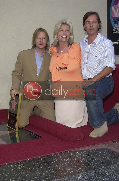 David Spade with mother and Brother