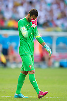 Rui Patricio of Portugal looks dejected with multi coloured gloves and boots