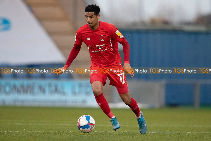 Louis Dennis, Leyton Orient in action during Colchester United vs Leyton Orient, Sky Bet EFL League 2 Football at the JobServe Community Stadium on 14th November 2020