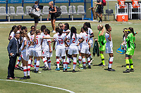 Bradenton, FL - Sunday, June 12, 2018: Canada prior to a U-17 Women's Championship 3rd place match between Canada and Haiti at IMG Academy. Canada defeated Haiti 2-1.