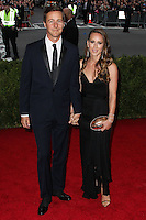 "NEW YORK CITY, NY, USA - MAY 05: Edward Norton, Shauna Robertson at the ""Charles James: Beyond Fashion"" Costume Institute Gala held at the Metropolitan Museum of Art on May 5, 2014 in New York City, New York, United States. (Photo by Xavier Collin/Celebrity Monitor)"