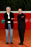 Spanish actor Javier Camara and film director Fernando Trueba on the red carpet during the presentation of the film Forgotten We'll Be (original title El olvido que seremos) at the 15th edition of Rome film Fest.<br /> Rome (Italy), October 21st 2020<br /> Photo Samantha Zucchi Insidefoto