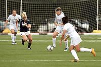 SAN ANTONIO, TX - AUGUST 19, 2012: The University of Dayton Flyers versus the University of Texas at San Antonio Roadrunners Women's Soccer at the UTSA Recreational Sports Complex. (Photo by Jeff Huehn)