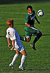 22 September 2008: University of Vermont Catamounts' backfielder Teddy Wingo, a Sophomore from Lake Forest Park, WA, in action against the Colgate University Raiders at Centennial Field, in Burlington, Vermont. The Raiders edged out the Catamounts 2-1, handing the Soccer Catamounts their first home loss of the 2008 season. ..Mandatory Photo Credit: Ed Wolfstein Photo