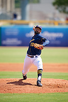 Montgomery Biscuits starting pitcher Zach Lee (17) delivers a pitch during a game against the Biloxi Shuckers on May 8, 2018 at Montgomery Riverwalk Stadium in Montgomery, Alabama.  Montgomery defeated Biloxi 10-5.  (Mike Janes/Four Seam Images)