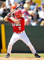 21 April 2007: University of Hartford Hawks' Matt O'Connell, a Junior from Braintree, MA, in action during a double-header against the University of Vermont Catamounts at Historic Centennial Field, in Burlington, Vermont...Mandatory Photo Credit: Ed Wolfstein Photo