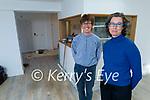 Dr Peadar Ó' Fionnáin and Dr Máire Fanning getting their new clinic Cois Abhann ready at The Mall in Dingle