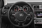 Car pictures of steering wheel view of a 2014 Volkswagen POLO SPORTLINE 5 Door Hatchback 2WD Steering Wheel