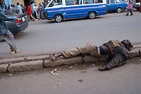 Addis Abeba, senza casa, homeless