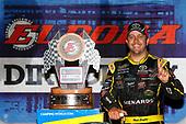 NASCAR Camping World Truck Series<br /> Eldora Dirt Derby<br /> Eldora Speedway, Rossburg, OH USA<br /> Wednesday 19 July 2017<br /> Matt Crafton, Ideal Door / Menards Toyota Tundra celebrates in victory lane <br /> World Copyright: Russell LaBounty<br /> LAT Images