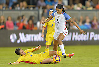 San Jose, CA - November 10, 2016: The U.S. Women's National team go on to defeat  Romania 7-1 during an international friendly game at Avaya Stadium.