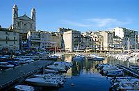 Saint Jean Baptist church in the old port at Bastia, Corsica, France.