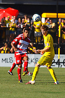 28 AUGUST 2010:  FC Dallas' David Ferreira and Brian Carroll of the Columbus Crew (16) during MLS soccer game between FC Dallas vs Columbus Crew at Crew Stadium in Columbus, Ohio on August 28, 2010.