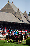 SARATOGA SPRINGS, NY - AUGUST 26: Horses races around the turn at Saratoga Race Course on Travers Day, August 26, 2017 in Saratoga Springs, New York. (Photo by Alex Evers/Eclipse Sportswire/Getty Images)