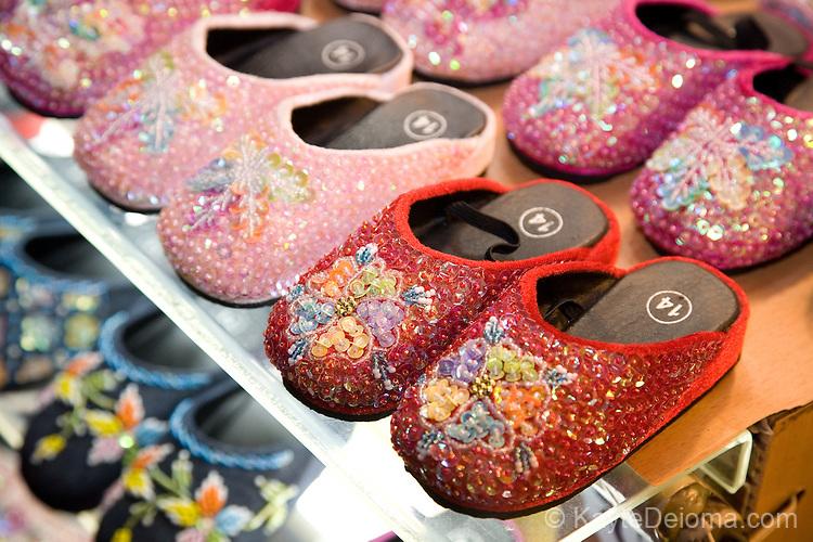 Ornate children's shoes in Danshui, Taipei County, Taiwan