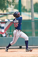 Wilson Rivera of the Gulf Coast League Braves during the game against the Gulf Coast League Tigers July 3 2010 at the Disney Wide World of Sports in Orlando, Florida.  Photo By Scott Jontes/Four Seam Images