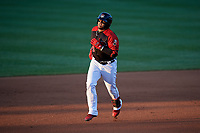 Erie SeaWolves Isaac Paredes (18) rounds the bases after hitting a home run during an Eastern League game against the Altoona Curve on June 3, 2019 at UPMC Park in Erie, Pennsylvania.  Altoona defeated Erie 9-8.  (Mike Janes/Four Seam Images)