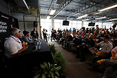2017 Verizon IndyCar Series<br /> Honda Indy Grand Prix of Alabama<br /> Barber Motorsports Park, Birmingham, AL USA<br /> Sunday 23 April 2017<br /> Mark Miles, Michael Andretti, Fernando Alonso, Zak Brown press conference, Andretti Autosport<br /> World Copyright: Michael L. Levitt<br /> LAT Images<br /> ref: Digital Image levitt-0417-bmp_06367