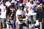 Texas Tech Red Raiders running back DeAndre Washington (21) in action during the game between the Texas Tech Red Raiders and the TCU Horned Frogs at the Amon G. Carter Stadium in Fort Worth, Texas. TCU defeats Texas Tech 82 to 27.