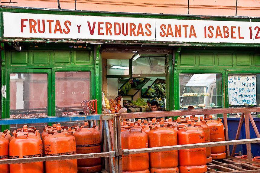 Small produce market, Madrid, Spain