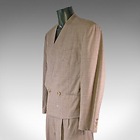 One of David Bowie's stylish trademark suits has emerged for sale for £15,000.