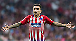 Angel Correa of Atletico de Madrid reacts during their International Champions Cup Europe 2018 match between Atletico de Madrid and FC Internazionale at Wanda Metropolitano on 11 August 2018, in Madrid, Spain. Photo by Diego Souto / Power Sport Images