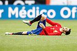 Spain's Alvaro Morata injured during friendly match. June 1,2016.(ALTERPHOTOS/Acero)