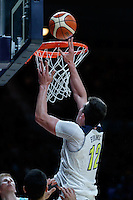 July 14, 2016: DREW EUBANKS (12) of the Oregon State Beavers takes a shot during game 2 of the Australian Boomers Farewell Series between the Australian Boomers and the American PAC-12 All-Stars at Hisense Arena in Melbourne, Australia. Sydney Low/AsteriskImages.com