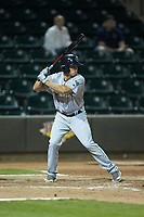 Jodd Carter (7) of the Lynchburg Hillcats at bat against the Winston-Salem Dash at BB&T Ballpark on May 9, 2019 in Winston-Salem, North Carolina. The Dash defeated the Hillcats 4-1. (Brian Westerholt/Four Seam Images)