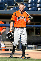 July 10th 2008:  Nolan Reimold of the Bowie Baysox, Class-AA affiliate of the Baltimore Orioles, during a game at Canal Park in Akron, OH.  Photo by:  Mike Janes/Four Seam Images