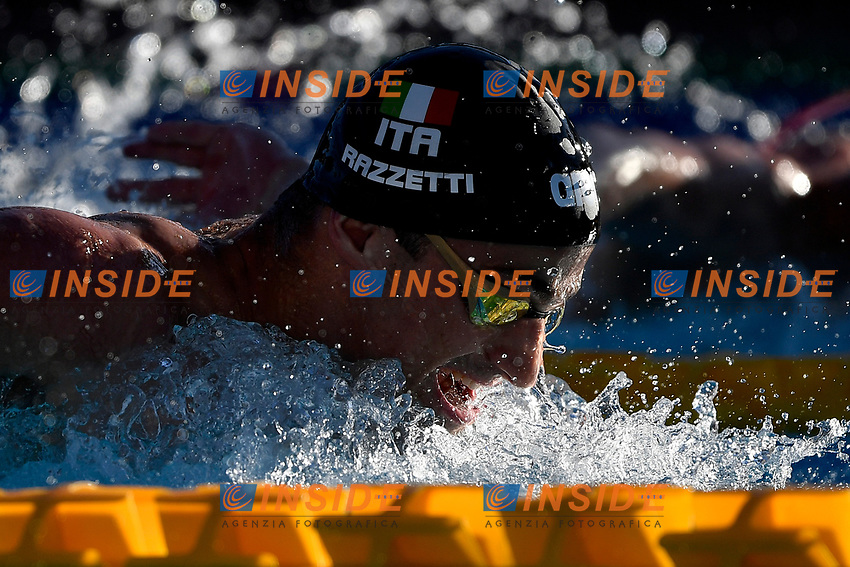 Alberto Razzetti of Italy competes in the men 400m individual medley during the 58th Sette Colli Trophy International Swimming Championships at Foro Italico in Rome, June 26th, 2021. Alberto Razzetti placed third .