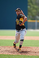 Pittsburgh Pirates pitcher Luis Heredia (60) during an instructional league intrasquad black and gold game on September 23, 2015 at Pirate City in Bradenton, Florida.  (Mike Janes/Four Seam Images)